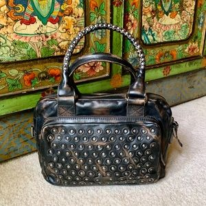NWT Frye Jenna Disc Studded Small Satchel